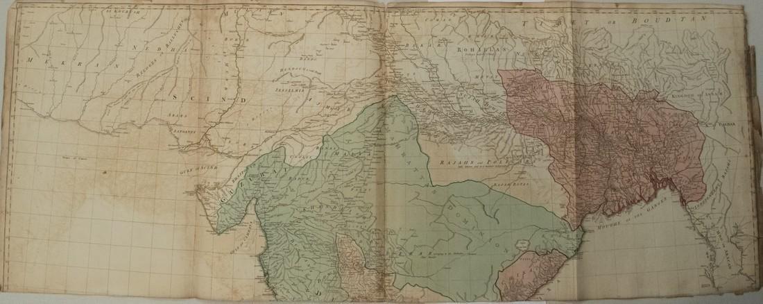 Jefferys: Antique Map of India and Sri Lanka, 1768