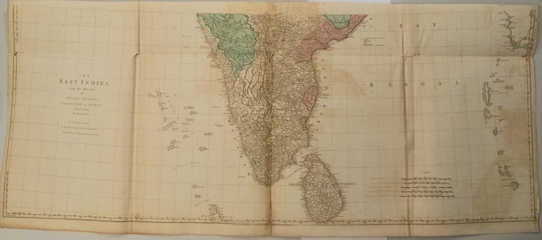 Jefferys: Antique Map of India and Sri Lanka, 1768 - 2