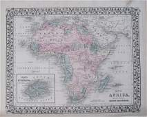 Mitchell: Antique Map of Africa verso Oceania/Australia
