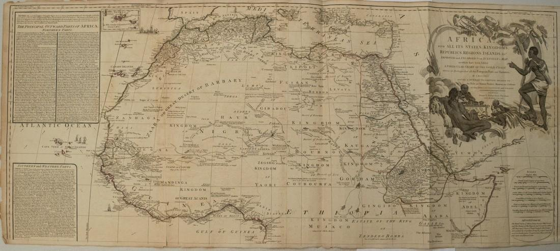 Sayer: Antique Map of Africa, 1787