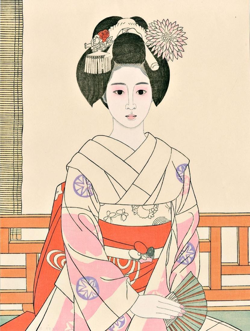 Harumi Tateishi Woodblock Maiko