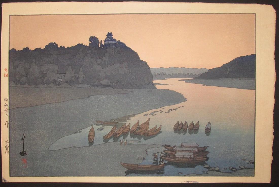 Hiroshi Yoshida First Edition Woodblock Kiso River