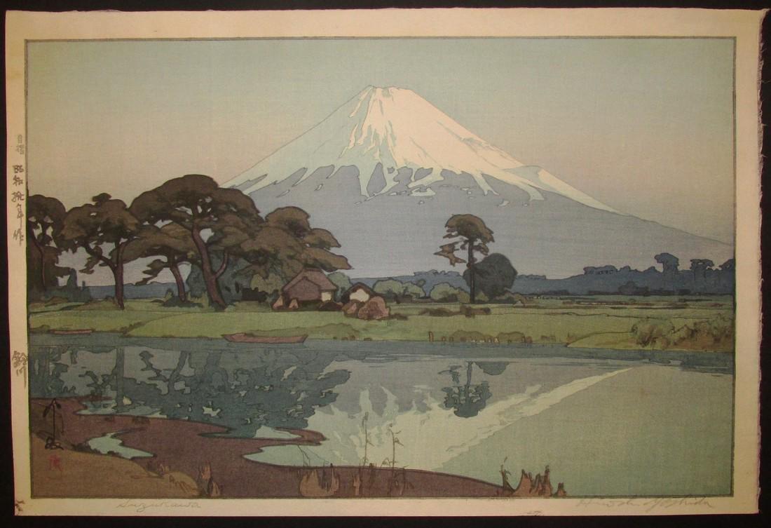 Hiroshi Yoshida First Edition Woodblock Suzukawa