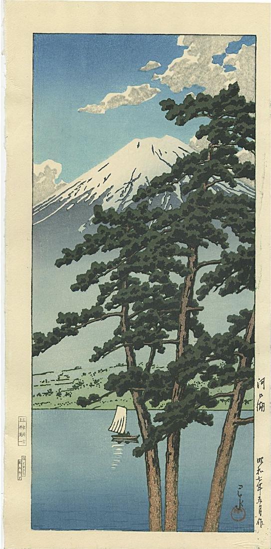 Kawase Hasui Woodblock  Lake Kawaguchi