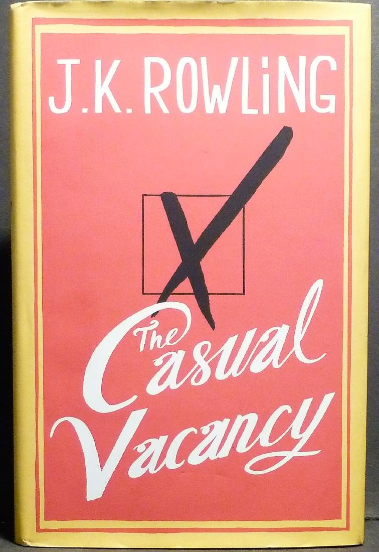 J.K. Rowling  The Casual Vacancy SIGNED First Edition