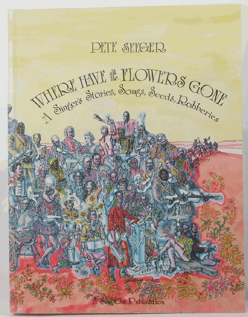 Where Have All the Flowers Gone Pete Seeger 1993 SIGNED