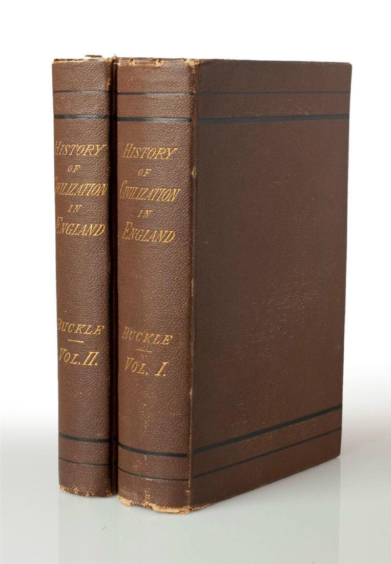 1883 History of Civilization in England - Vol. I & II