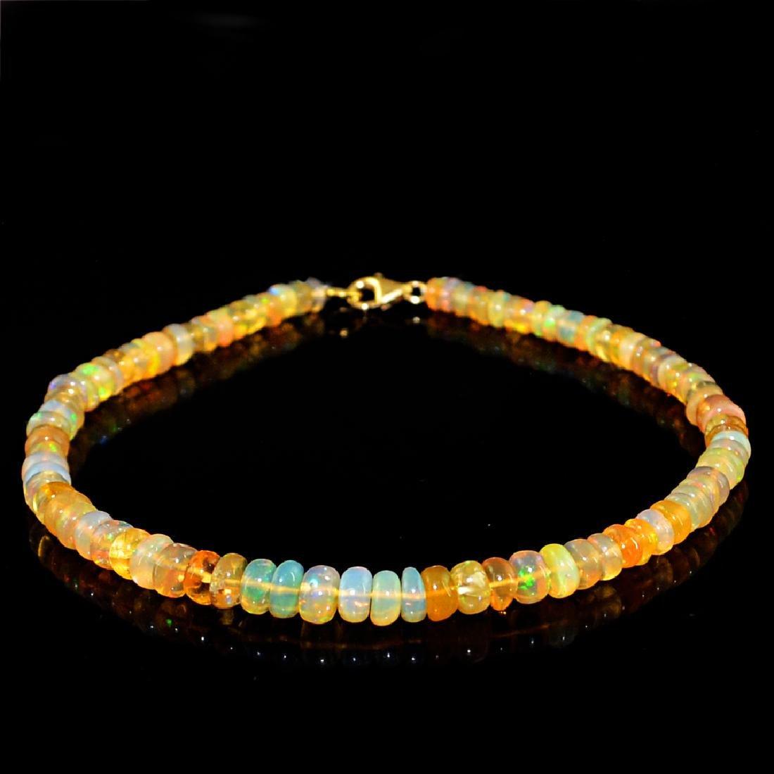 18K Gold Ethiopian Opal Bracelet