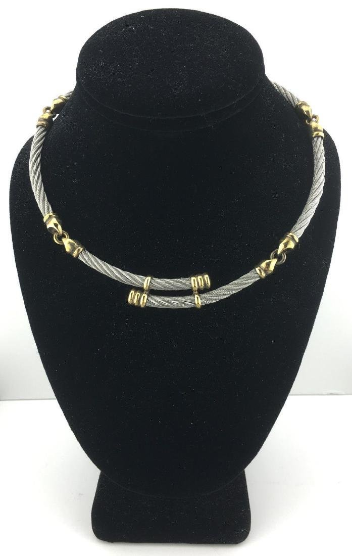 Philippe Charriol Stainless 18k Gold Overlay Necklace