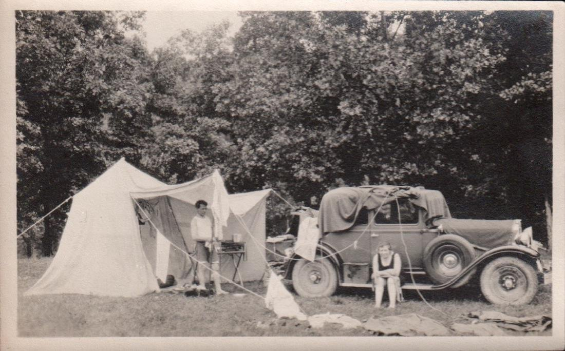 Snapshot Photo of Campers 1930's