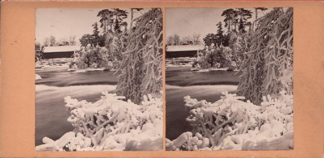 Stereoview of Luna Island Scenery by George Barker