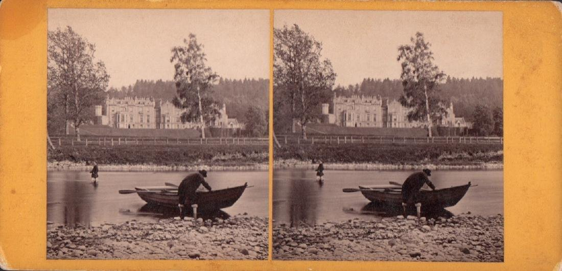Stereoview of Abbotsford from the River by G. W. Wilson