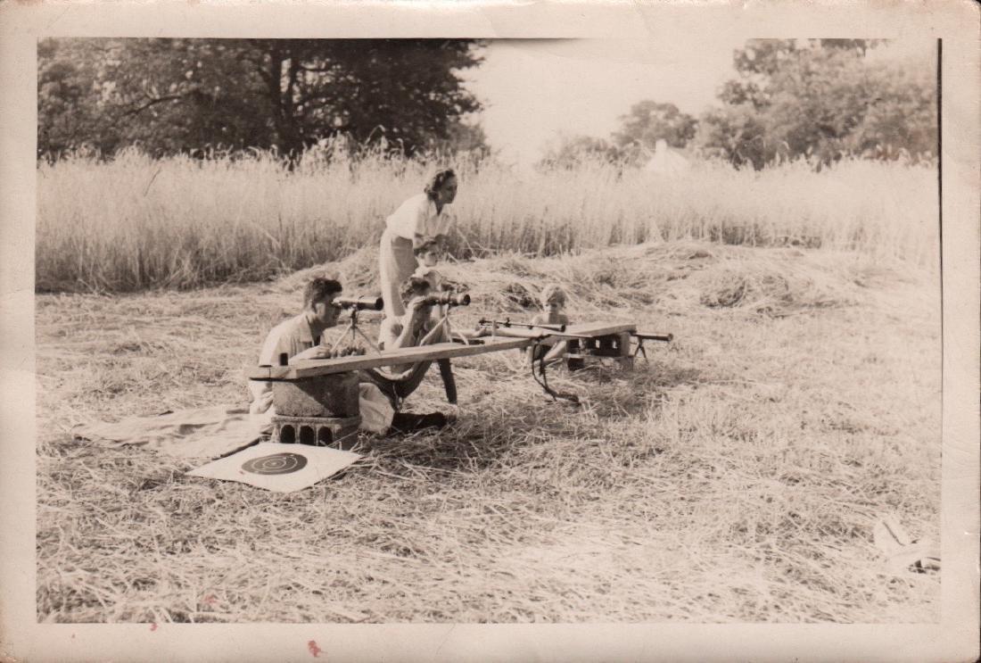 Snapshot Photos of People Target Shooting 1940's