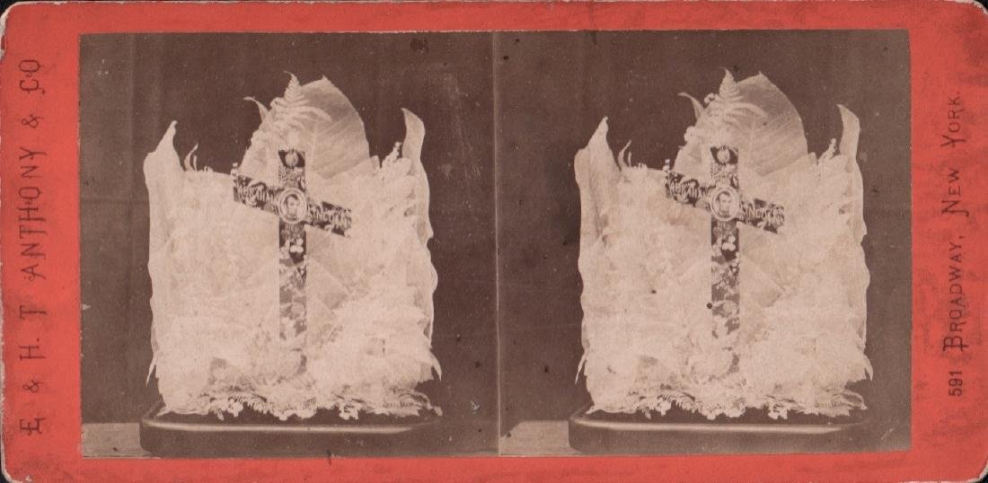 Stereoview of Lincoln Memorial, Dissected Leaves 1870's