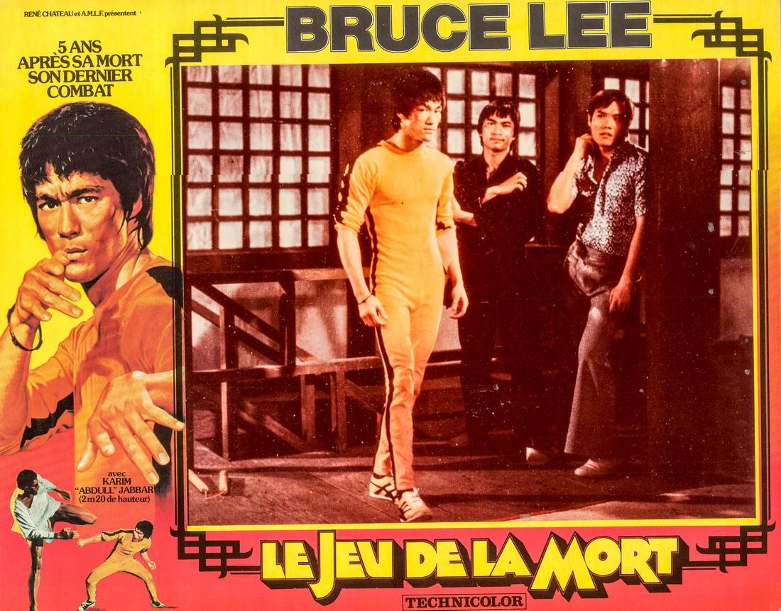 1978 Bruce Lee Game of Death French Lobby Card Style H