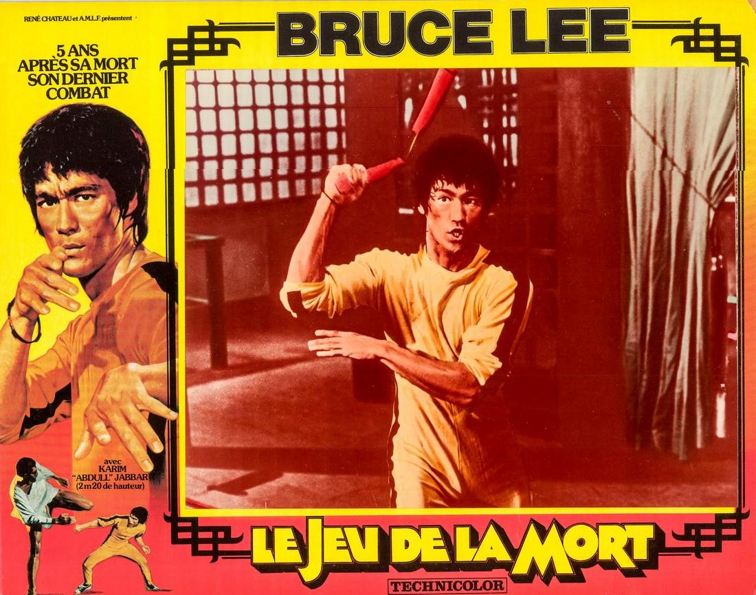 1978 Bruce Lee French Lobby Card Game of Death Style G