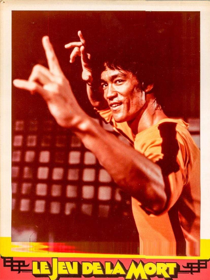 !978 Bruce Lee French Lobby Card Game of Death Style C
