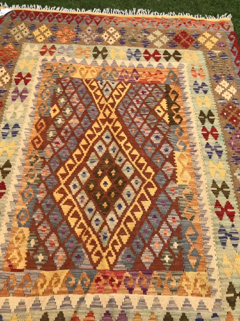 Vegetable Dyed Chobi Kilim Rug 6.10x5 - 9