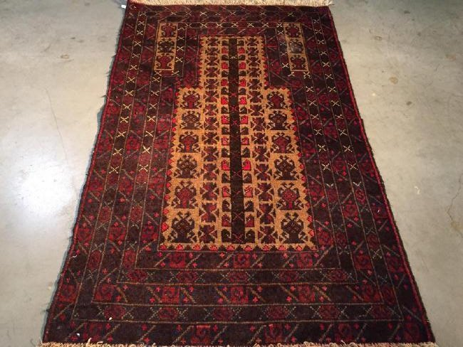 Hand Knotted Prayer Rug 3x5