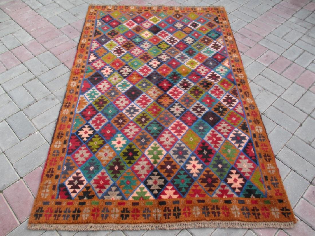 Contemporary Hand Knotted Baluchi Rug 6x3.10
