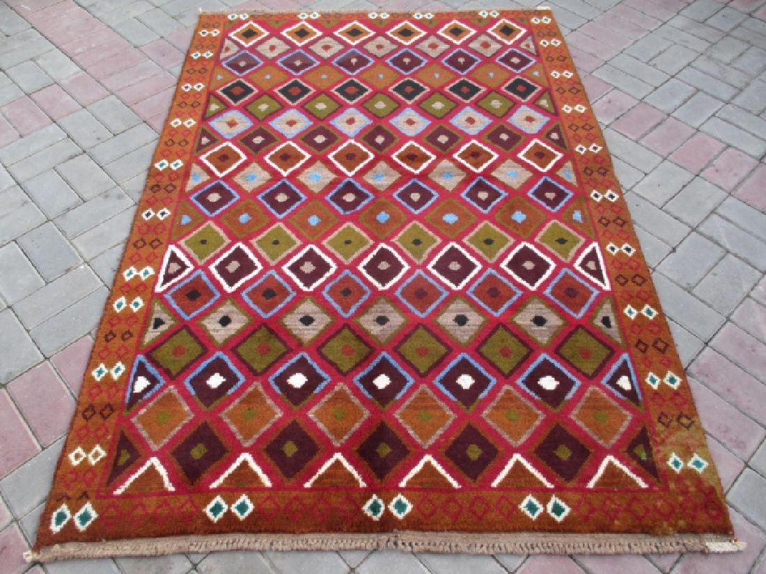 Contemporary Hand Knotted Baluchi Rug 6.3x4.4