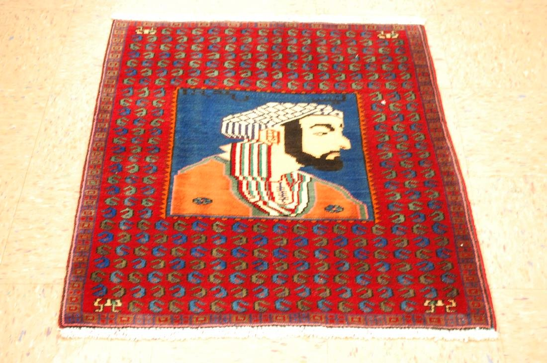 Pictorial Avicenna Detailed Persian Tabriz Rug 2.7x3. 2