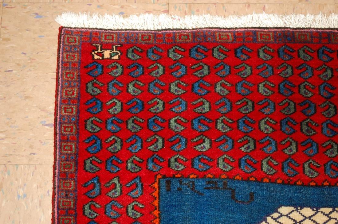 Pictorial Avicenna Detailed Persian Tabriz Rug 2.7x3. 2 - 4