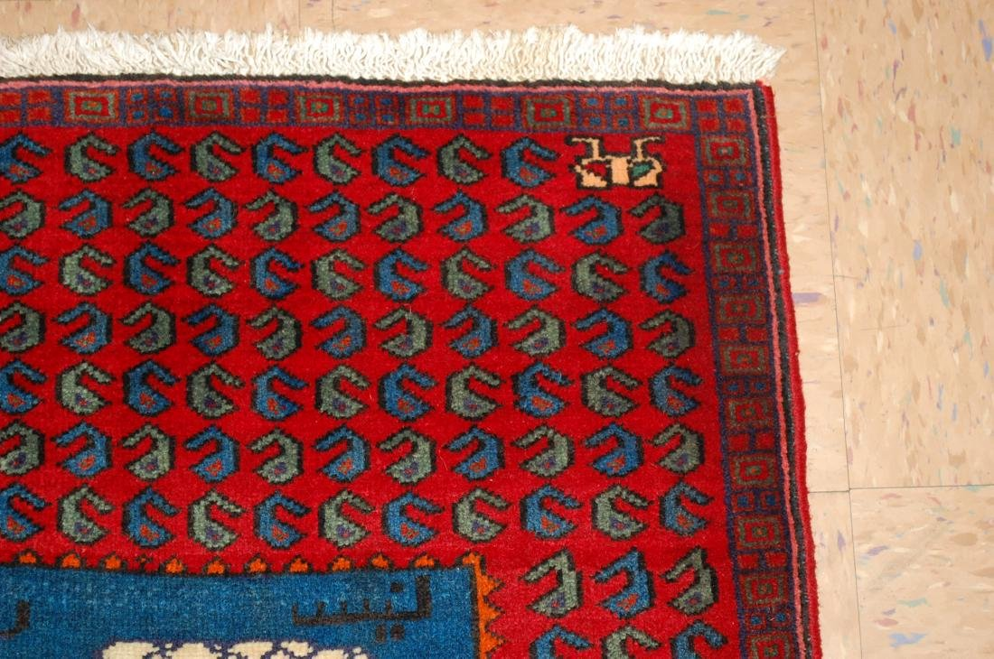 Pictorial Avicenna Detailed Persian Tabriz Rug 2.7x3. 2 - 5