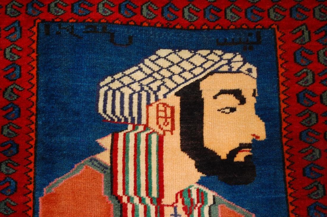 Pictorial Avicenna Detailed Persian Tabriz Rug 2.7x3. 2 - 6