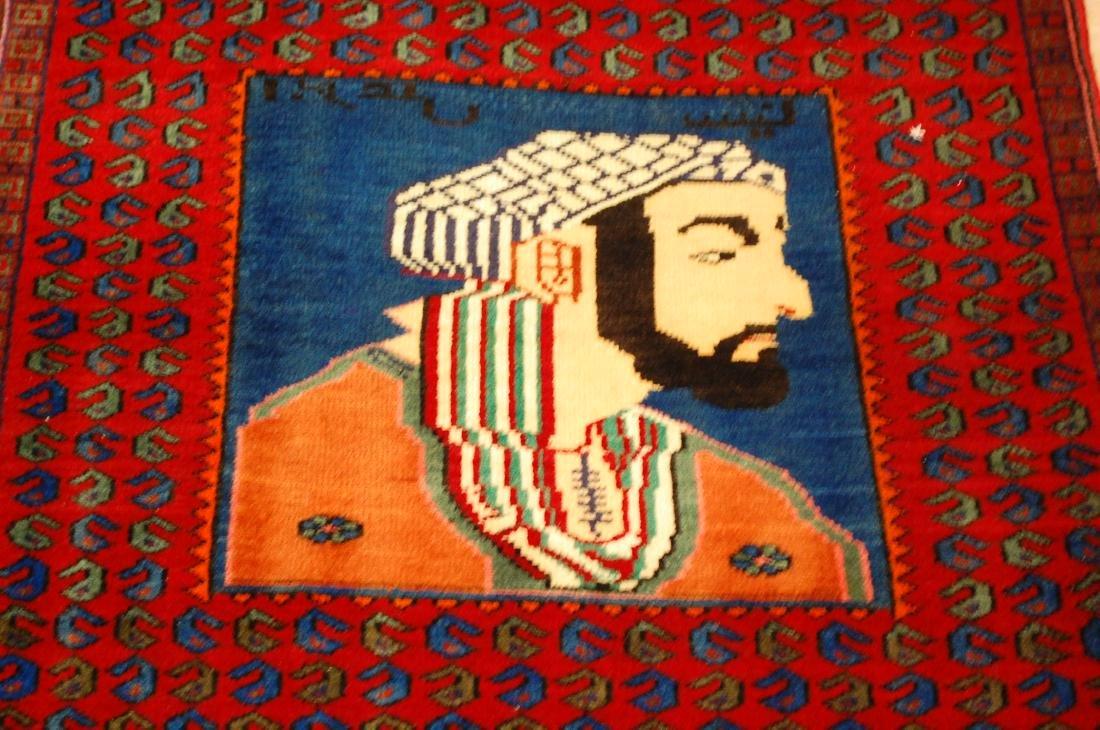 Pictorial Avicenna Detailed Persian Tabriz Rug 2.7x3. 2 - 9