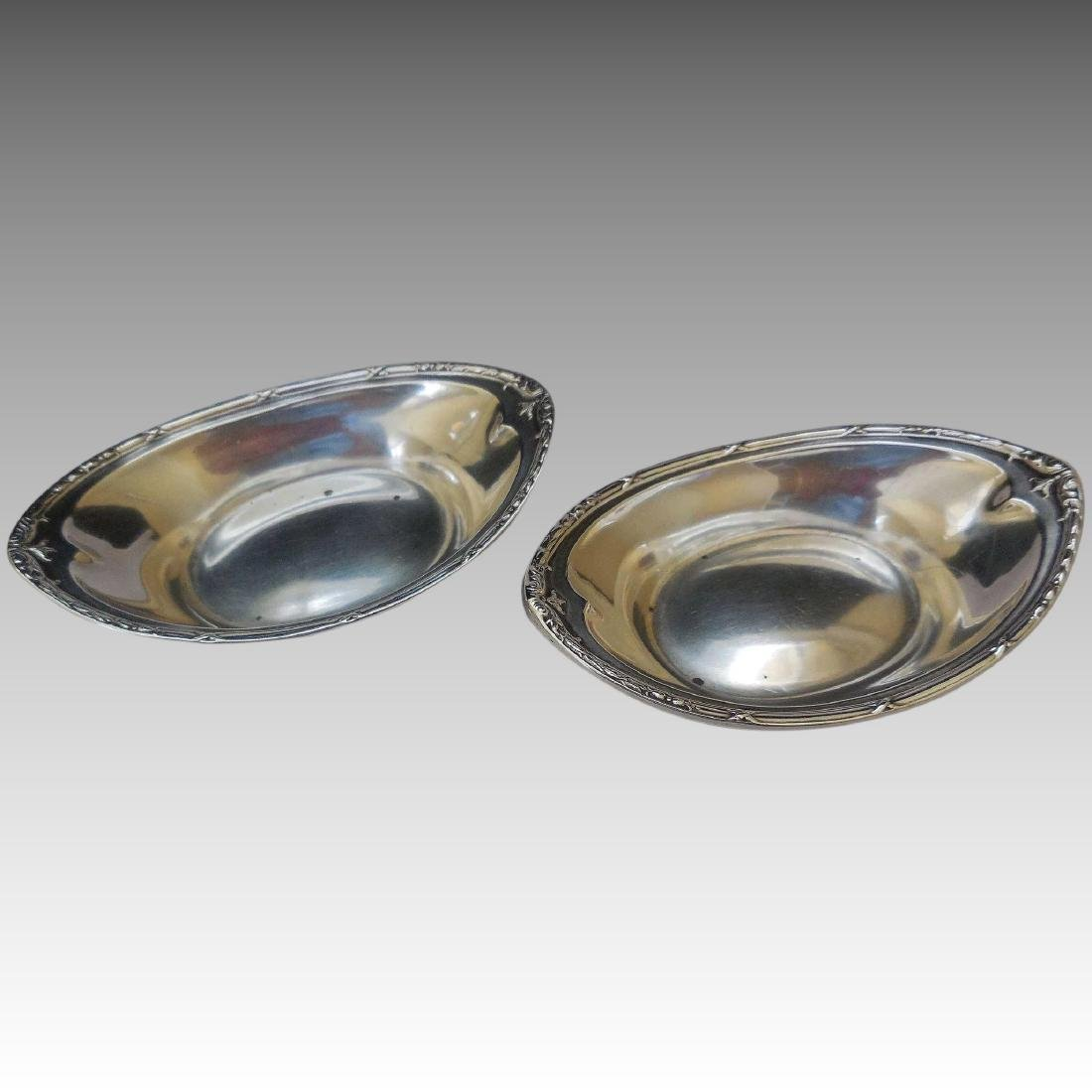 Pair of Dominick & Haff Sterling Silver Nut Dishes
