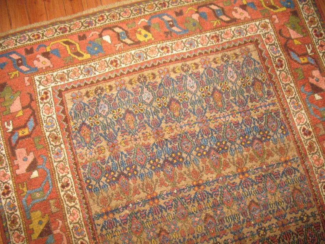 Antique Persian Camel Field Bidjar Rug Size 3.8x5.9