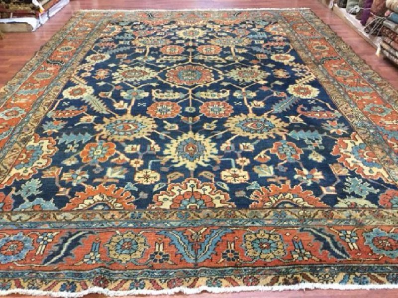 Antique All-Over Persian Heriz Rug 9x12