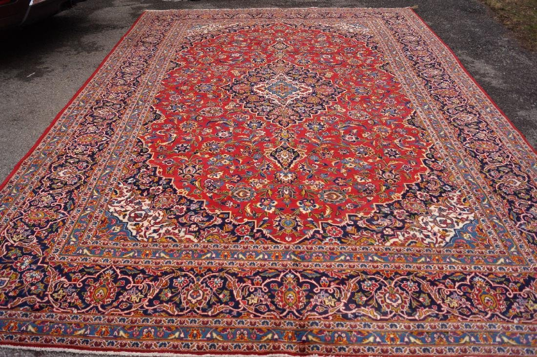 Vintage Persian from Iran Kashan Rug 10.6x14.6