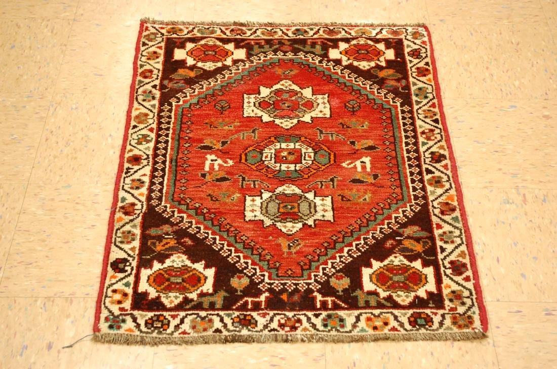 Persian Shiraz Qashkai Many Details Nomadic Rug 2.5x3.3