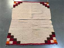 1930s Navajo Single Saddle Blanket Rug 2x24