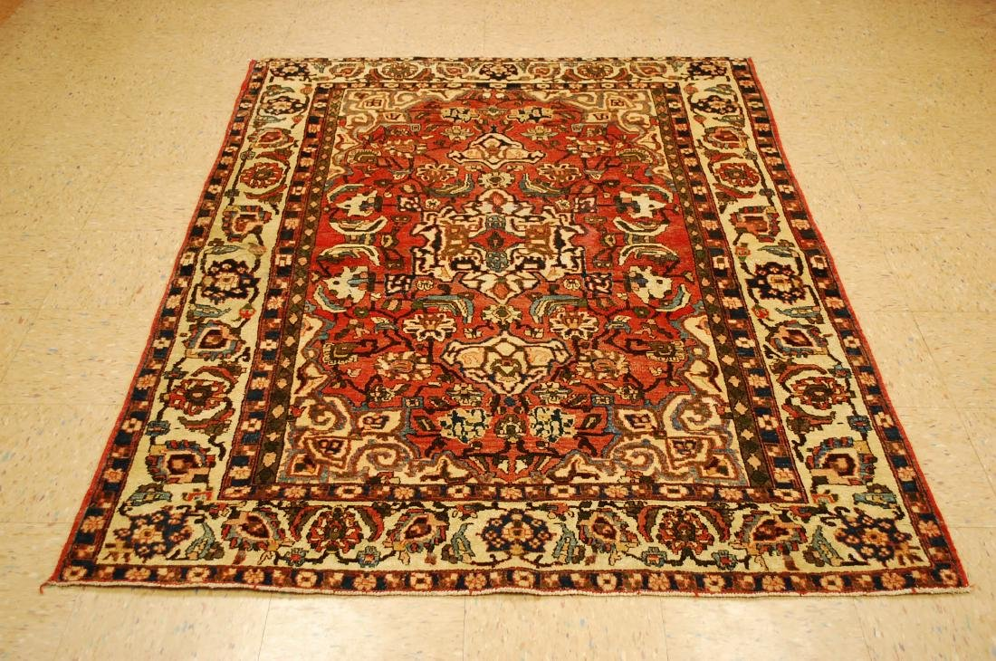 Persian Bakhtiari Colorful Detailed Rug 4.9x6.8
