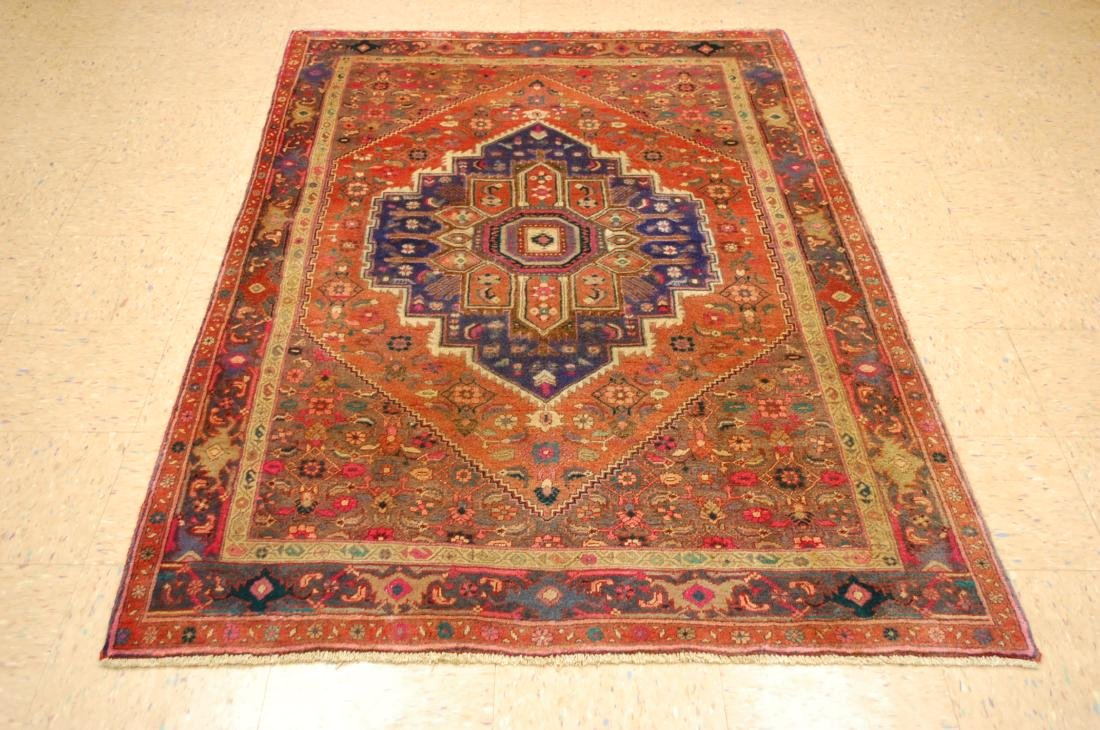 Vintage Fine Kork Wool Persian Bijar Rug 4.3x6.10