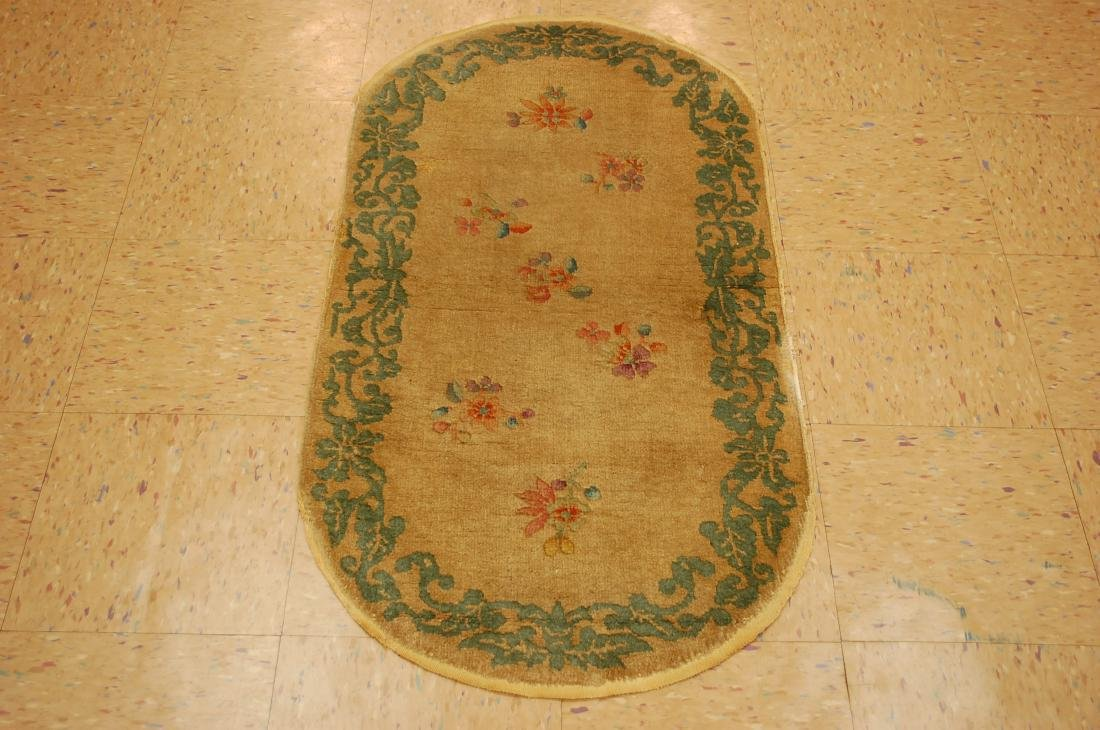 Vintage Mint Art Deco Chinese Rug 2x3.10