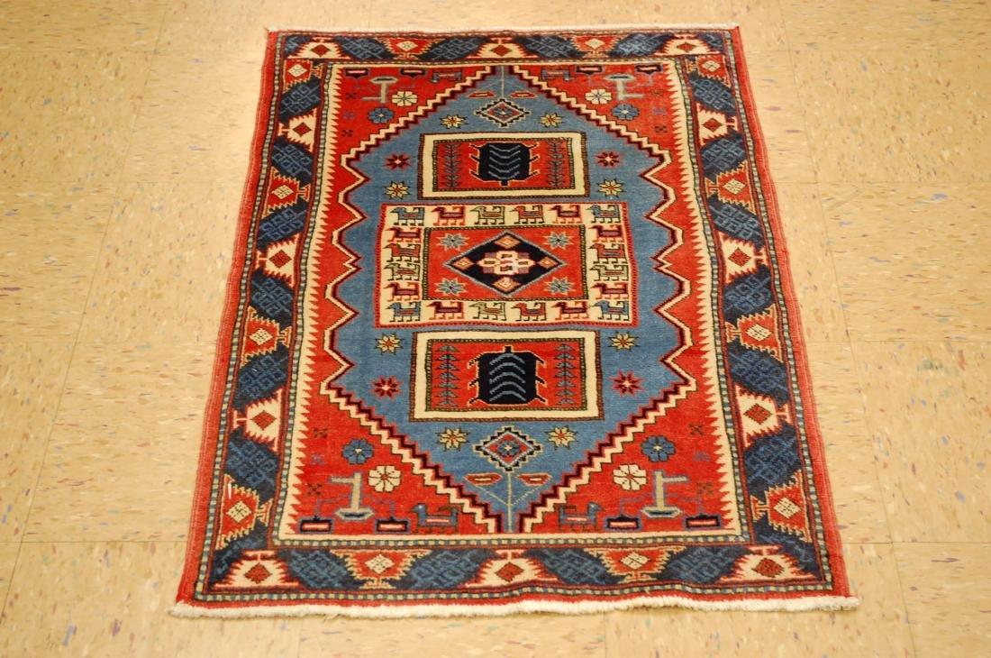 Caucasian Kazak Shirvan Design Caucasian Rug 2.3x3.5