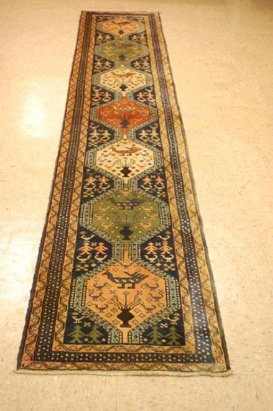 Caucasian Kazak Shirvan Design Caucasian Rug 2.3x11.4