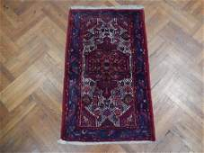 Vintage Hand Knotted Persian Hamadan Rug 29x47