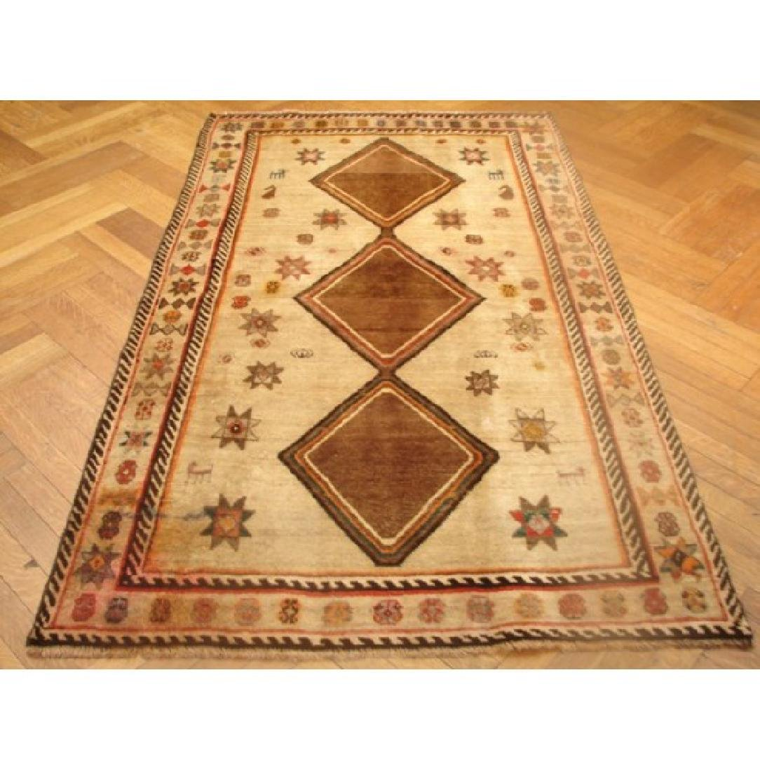 Semi Antique Handmade Persian Shiraz Rug 3.10x6.7