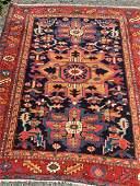 Vintage Beautiful Hand Woven Persian Serapi Rug 3.4x4.4