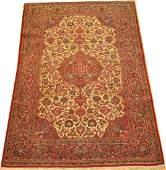 Vintage Persian Kashan Isfahan Rug Size 4.3x6.9