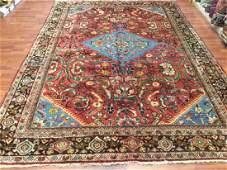 Vintage Persian Mahal Rug 10.10x7.5