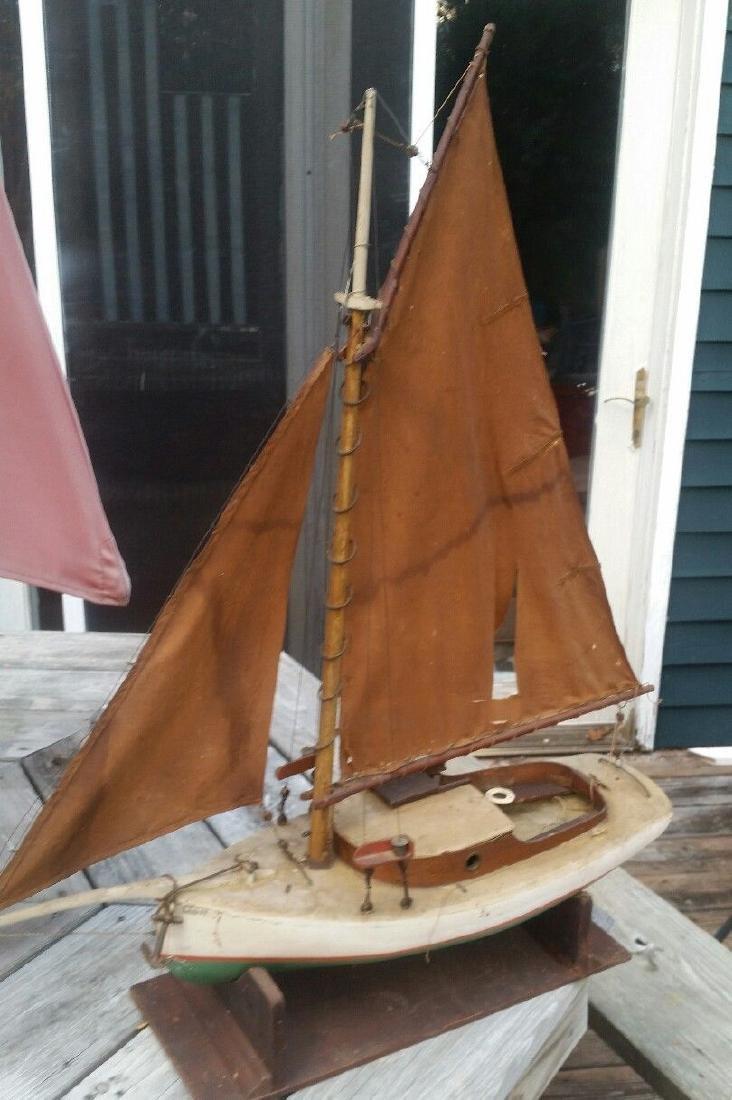 19th Century Pond Boat Deer Isle Maine Louisa Sailboat