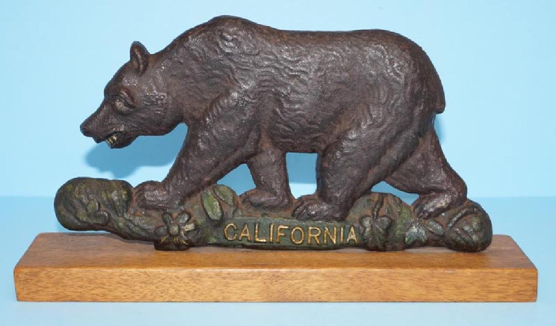 California Grizzly Bear Cast Iron Plaque