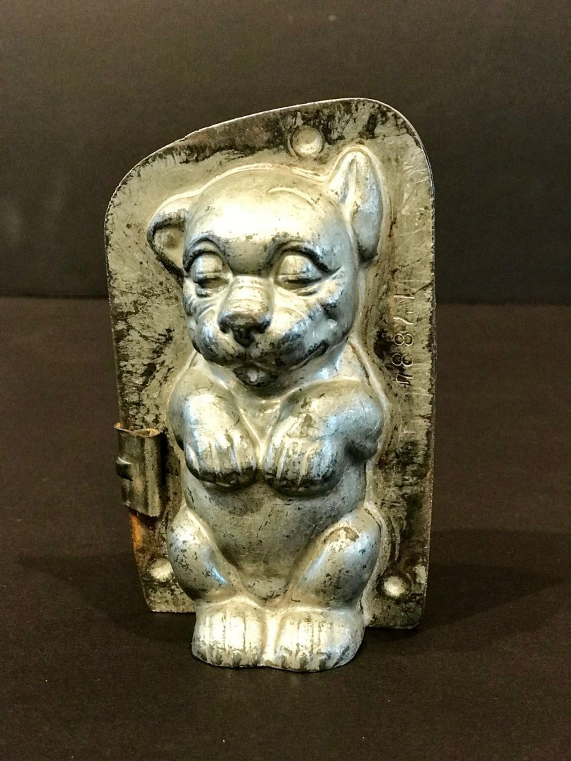 Puppy Chocolate Mold, Early 20th Century