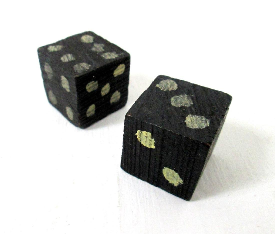 Early Carved & Painted Dice